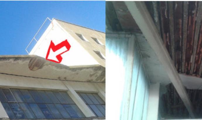 Part del recaptat es destinarà a reparar el voladís de l'edifici. Font: Can Fugarolas Font: