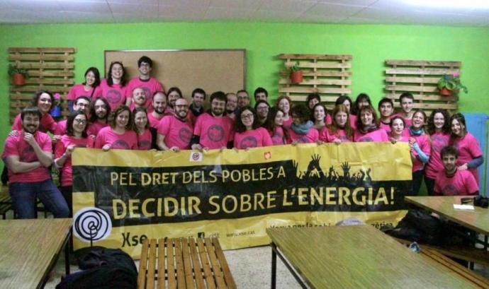 Membres de la Xarxa per la Sobirania Energètica.