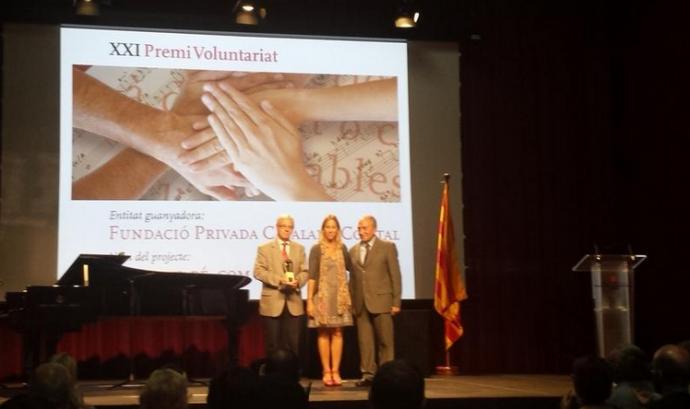 La Fundació Comtal va ser la guanyadora del XXII Premi Voluntariat. Font: