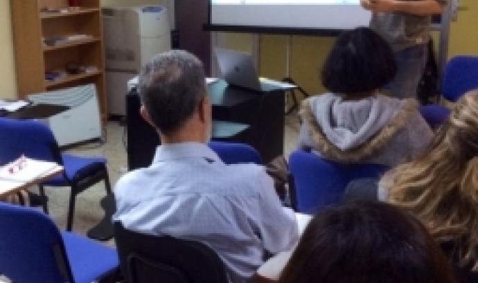 Sessió informativa celebrada a Voluntaris.cat. Font: FCVS