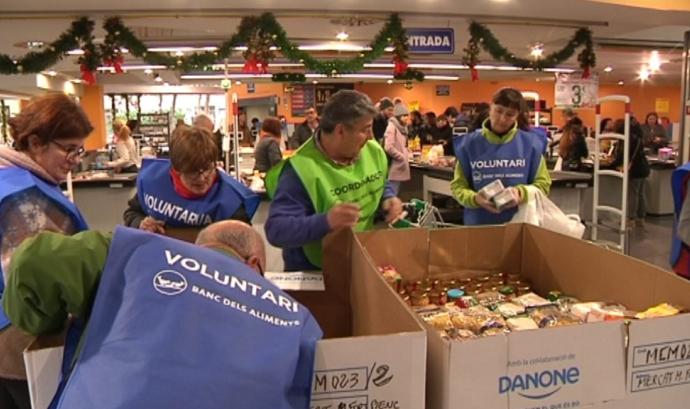 El Gran Recapte tornarà a tenir voluntariat als establiments per animar les donacions el divendres 19 i dissabte 20 de novembre. Font: Banc dels Aliments Barcelona