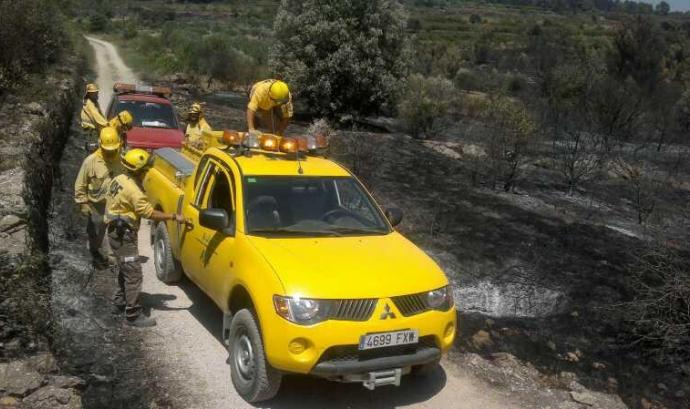 Voluntaris Forestals de Terrassa a l'Empordà; imatge del facebook. Font: