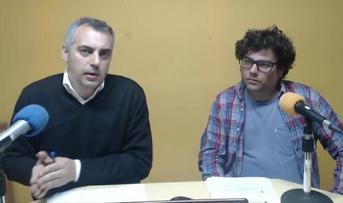 Víctor Garcia i Emilio Romero en el webinar sobre gestió del voluntariat Font: El Teb