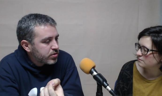 Francesc Bassas i Eneida Iturbe, al tercer webinar de xarxanet.org. Font: Canal de Youtube de xarxanet.org Font: