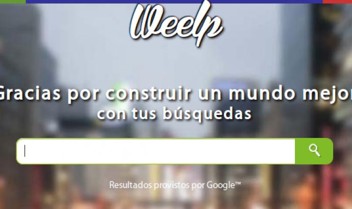 Weelp, el cercador solidari de Internet Font: