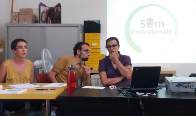 Júlia Sànchez, Valentí Zapater i Victòria Martínez formen Som Provisionals. Font: Som Provisionals