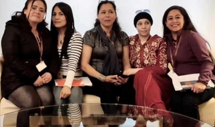 (esq.a a dreta) Ana Matilde, Ericka, Silvia, Aguatif i Flavia Font: Sindicato Cuidadoras Sin Papeles