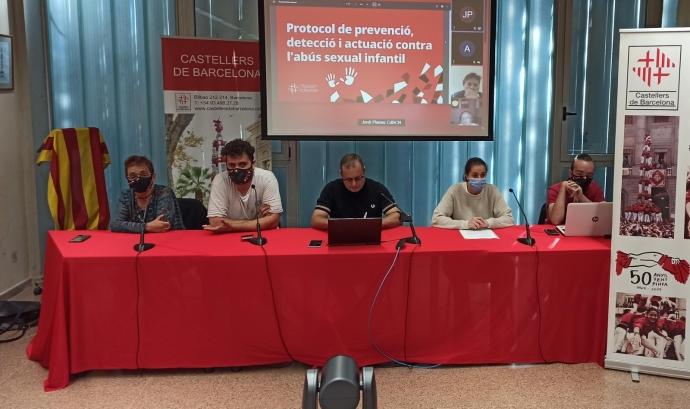 Els Castellers de Barcelona han presentat el primer Protocol de prevenció, detecció i actuació contra l'abús sexual infantil del món casteller. Font: Castellers de Barcelona