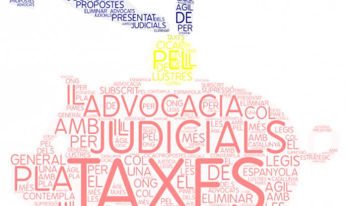 Des del 2015, les persones físiques no han de pagar les taxes judicials. Font: Elaboració pròpia Font: