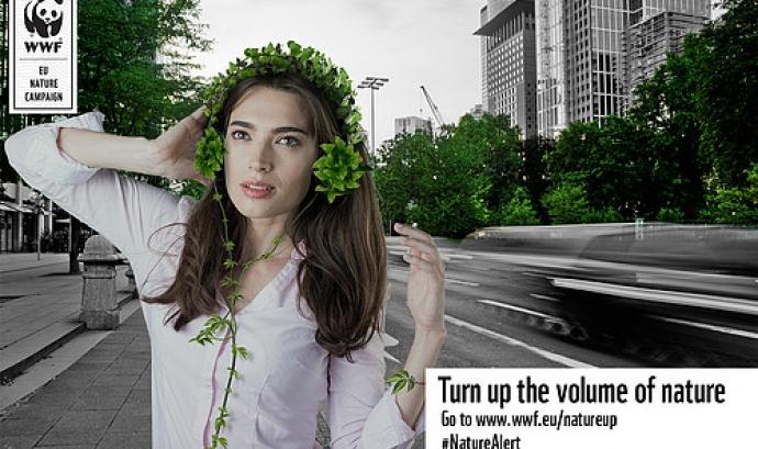 WWF ha creat la campanya Nature Up, de cara a la reunió de la Comissió Europea a finals de juny de 2016 (imatge: wwf.eu)