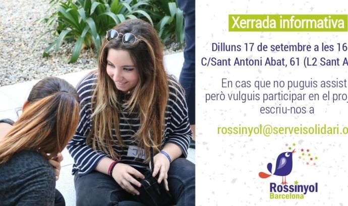 Cartell de la xerrada informativa sobre el projecte 'Rossinyol Barcelona 2018-2019'