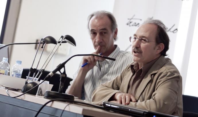 A l'esquerra de l'imatge, Xavier Masllorens. Font. Educació Sense Fronteres Font: