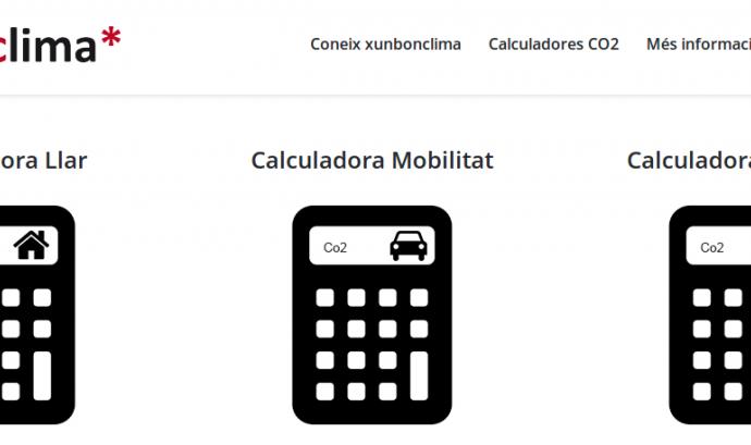 XunBonClima, una eina per calcular el teu impacte ambiental Font: