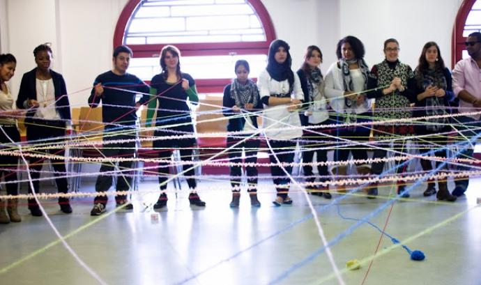 Alguns dels joves participants al projecte. Foto: Youthme Font: