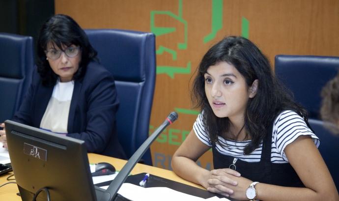 Yuly Jara, periodista de dades i coordinadora del portal Maldita Migración.