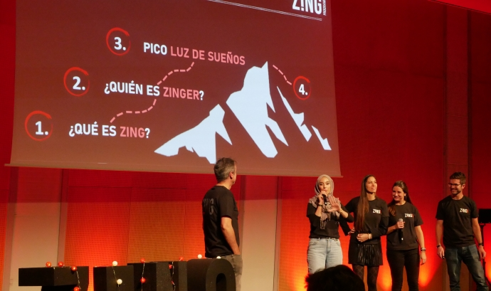 El programa Zing fou presentat el 19 de novembre durant la trobada anual de joves becats. Font: Fundació Privada Nous Cims