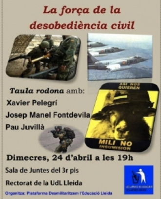 Xerrada sobre a desobediència civil a Lleida.