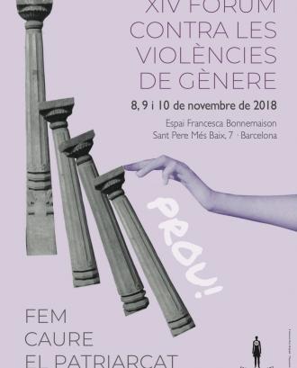 Cartell del 'XIV Fòrum contra les violències de gènere'