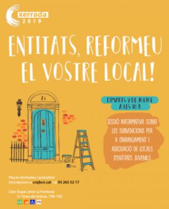 Cartell de la sessió informativa de subvencions per a l'arranjament de locals