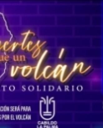 Concert solidari per a les persones afectades pel volcà de La Palma. Font: 12 mesos Xarxa d'oci solidari.
