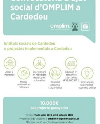Convocatòria d'ajut social a Cardedeu