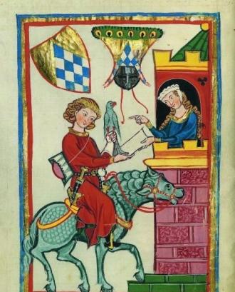 Aldonça de Bellera, des de la seva torre, enviant missatges de pau