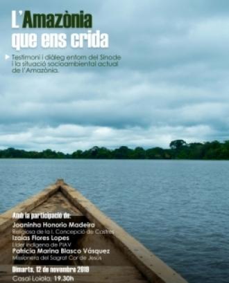 La jornada comparteix el missatge del Sínode Amazònic i la importància de la defensa dels pobles indígenes que habiten l'Amazònia. Font: Entrecultures.