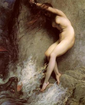 'Andròmeda encadenada a les roques', de Gustave Doré