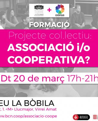 Taller 'Projecte col·lectiu: associació o cooperativa?'. Font: Coòpolis