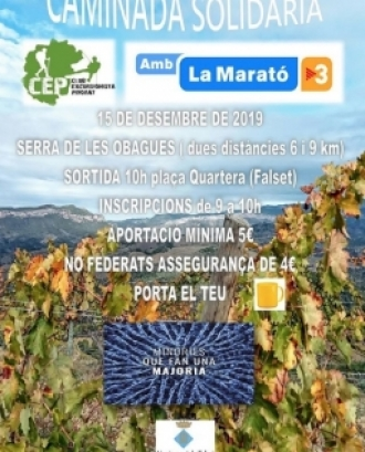 Caminada solidària a la Serra de les Obages per la Marató