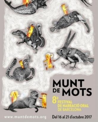 Cartell del VIII Festival de Narració Oral de Barcelona - Font: Munt de Mots