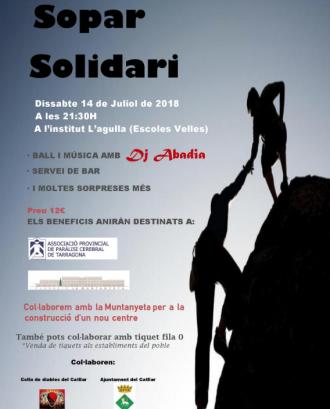 Cartell del sopar solidari. Font: La Muntanyeta