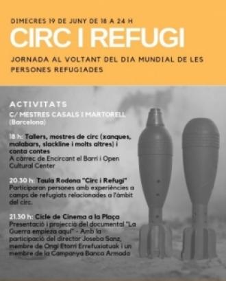 """Cartell de la jornada """"Circ i refugi"""""""