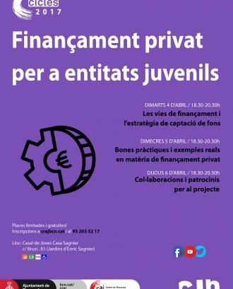 Cartell del cicle de finançament privat del CRAJ