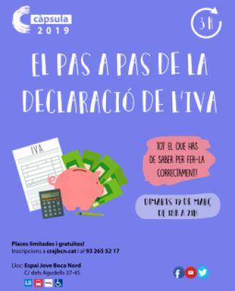 Cartell de la càpsula formativa de la declaració de l'IVA