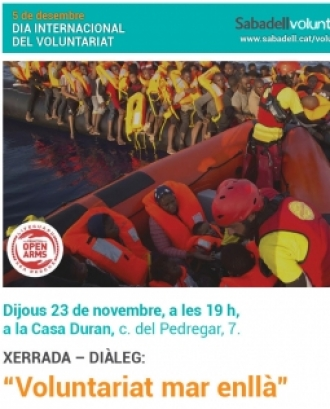 Xerrada - Col·loqui: Voluntariat mar enllà, amb Proactiva Open Arms