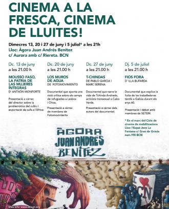 IV Cicle de Cinema a la fresca, cinema de lluites