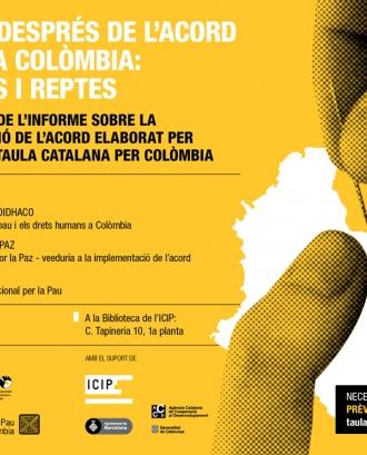 Cartell de l'esdeveniment. Font: Taula Catalana per la Pau i els Drets Humans a Colòmbia
