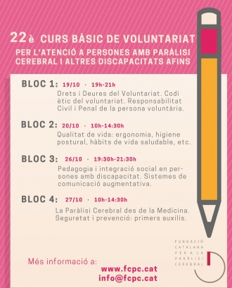 Cartell del 22è Curs bàsic de Voluntariat