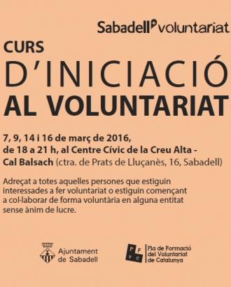 Curs d'iniciació al voluntariatT