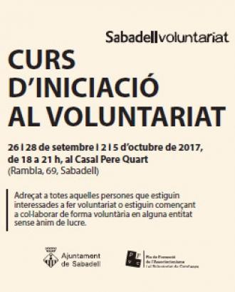 Curs d'Iniciació al Voluntariat