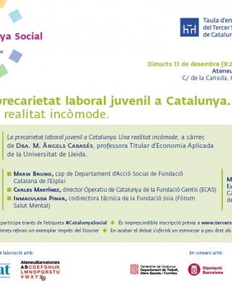 Programa del debat que es farà a l'Ateneu Barcelonès. Font: Taula del Tercer Sector
