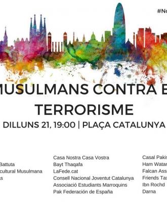 Cartell convocatòria musulmans contra el terrorisme