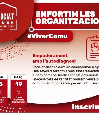 Cartell del primer mòdul 'Apoderament amb l'autodiagnosi' del Viver de Comunicació Associa't