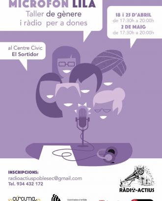 Micròfon Lila: Taller de gènere i ràdio per a dones