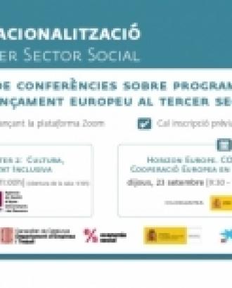 La Taula del Tercer Sector impulsa les conferències sobre finançament europeu per a entitats.