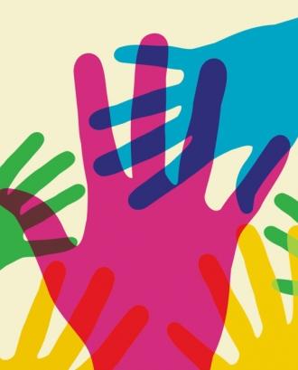 Mans de diferents colors