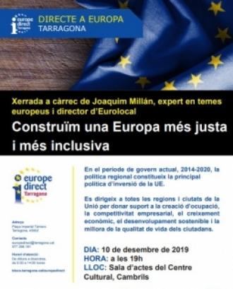 Construïm una Europa més justa i més inclusiva