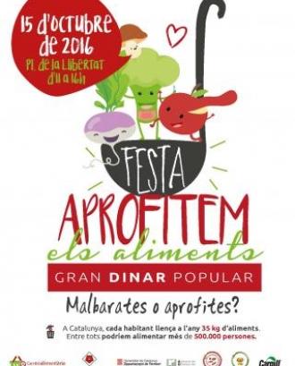 Festa Aprofitem els Aliments a Reus dissabte 15 d'octubre de 2016 (imatge: reus.cat)