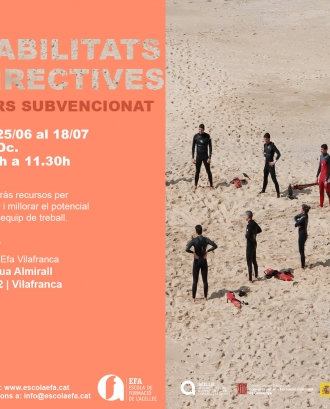 Curs Habilitats directives a Vilafranca
